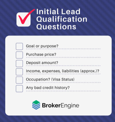 Mortgage Broker Sales Qualification Questions