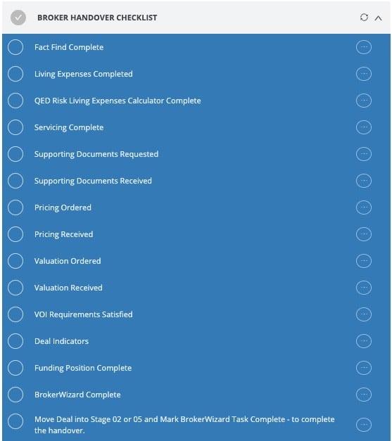 Home loan handover checklist
