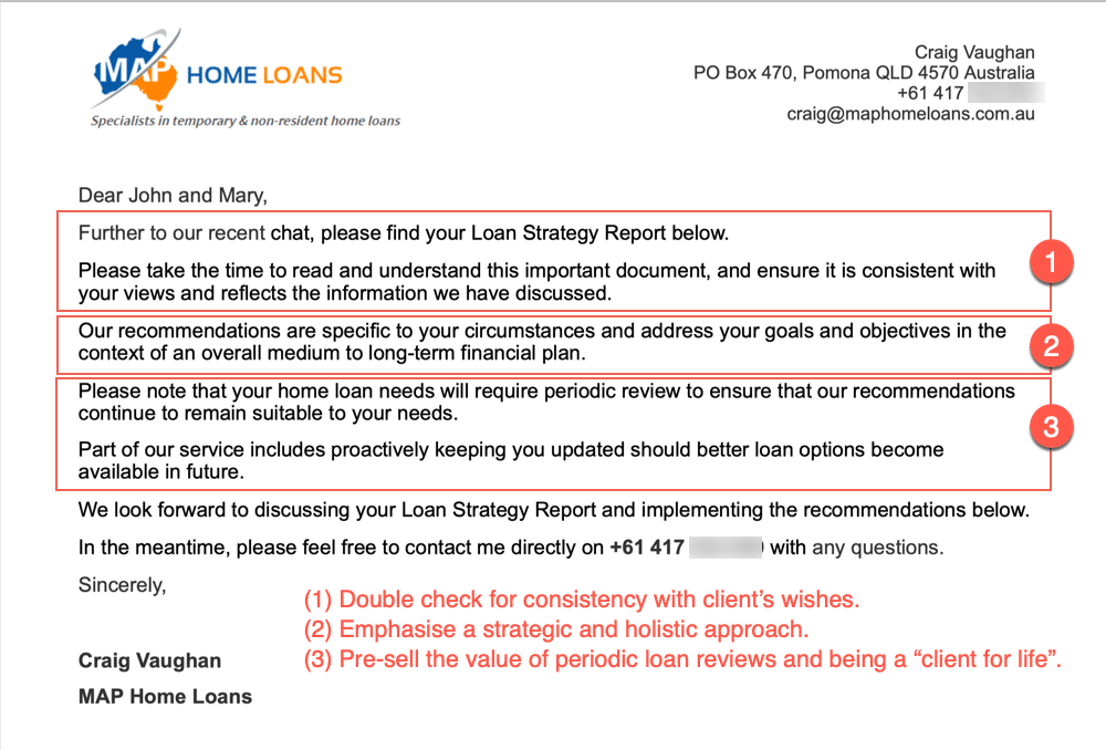Loan Advice Cover Letter